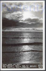 THE END OF THE DAY ON THE SALTON SEA RPPC CALIFORNIA DESERT