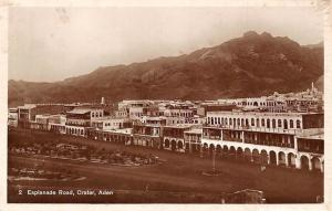Yemen Aden Crater Esplanade Road, real photograph