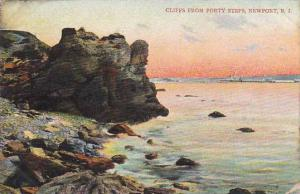 Rhode Island New Port Cliffs From Forty Steps