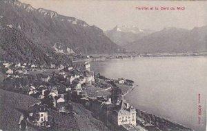 Schweiz Territet et la Dent du Midi