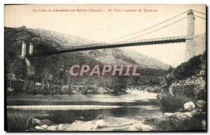 Old Postcard Suspension Bridge Tarrassac surroundings Lamalou les Bains