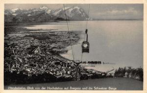 Austria Pfanderbahn Blick von der Hochstation Bregenz Schweizer Berge Postcard