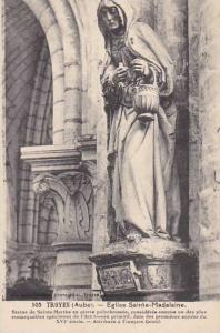 France Troyes Eglise Sainte Madeleine Statue de Sainte Marthe