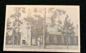 1940s Marines , Camp Lejuene, New River, North Carolina Postcard. Chapel