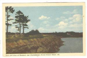 Farm and shore at Rosebank near Charlottetown, Prince Edward Island, Canada, ...
