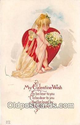 Valentines Day Writing on back wear left bottom corner