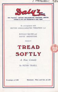 Tread Softly Ronald Squire Comedy Peter Traill Dalys Theatre London Programme