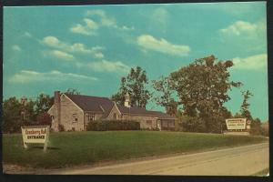 Postcard Unused Cranberry Hall Evans City PA LB