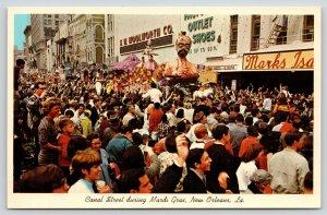 New Orleans LA~Mardi Gras Arabian Parade Float~Canal Street~FW Woolworth~1966