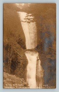 RPPC Columbia River Highway OR, Bridal Veil Falls, Oregon Real Photo Postcard