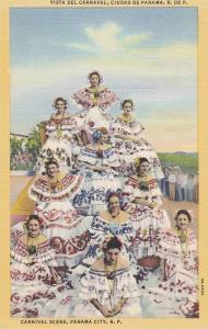 Women in Pollera Dresses Vista del Carnaval, Carnival Scene, Panama City, Pan...