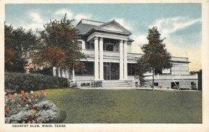Country Club, Waco, Texas c1920s Vintage Postcard