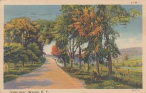 Scene near Deposit NY, New York - pm 1941 - Linen