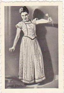 GARBATI CIGARETTE CARD FAMOUS DANCERS NO 150 ERIKA LINDNER
