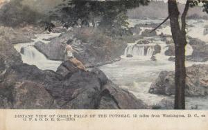 WASHINGTON D.C., 1908 ; Distant View of Great Falls of the Potomac River