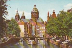 Netherlands Amsterdam St Nicolas Church Overlooking Oudezijds Kolk 1972