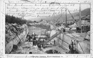 USA Marble Quarry, West Rutland Vt. 1906 industry