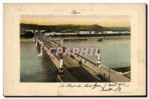Postcard Old Lyon Pont du Midi