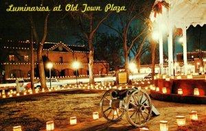 Vintage Christmas Lights Old Town Plaza Albuquerque, NM Postcard P14