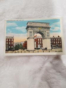 Antique Postcard, Washington Arch, New York City
