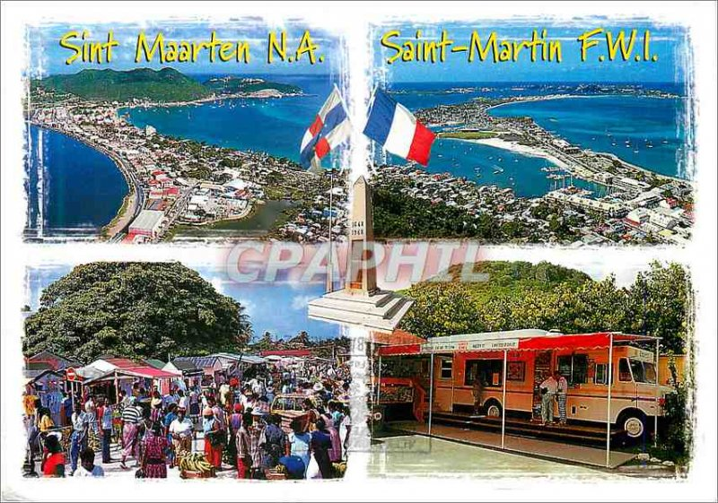Modern Postcard St. Maarten Netherlands Antilles Saint Martin French West Indies