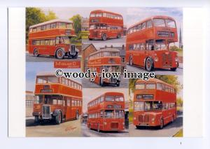 tm6099 - Midland Deckers, Red Double Deckers, Artist - G.S.Cooper - postcard