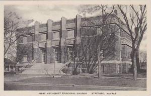 Kansas Stafford First Methodist Episcopal Church Albertype