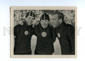 166981 VII Olympic Soviet speed skaters CIGARETTE card