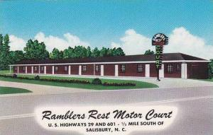 North Carolina Salisbury Ramblers Rest Motor Court