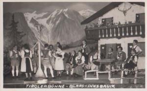 Tiroler Buhne Blaas Morris Dancer Dancing Austrian Innsbruck Real Photo Postcard