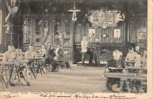 Axvall: Kungl. Västgöta Reg Skrifsalen i Vakthuset Sweden 1904 Vintage Postcard