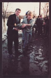 Ronald Reagan in Fort Wayne IN Post Card 3345