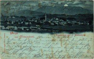 CPA AK Teisendorf mit dem Untersberg - Totalansicht GERMANY (1035029)