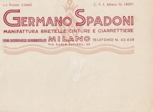 Milano Italy Cigarette Germano Spadoni Advertising 1950 Postcard
