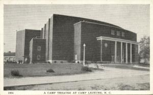 Camp Lejeune, N.C., Camp Theatre (1940s) WWII Postcard No. 1904