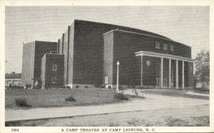 Camp Lejeune, N.C., Camp Theatre (1940s) WWII Postcard No. 1904