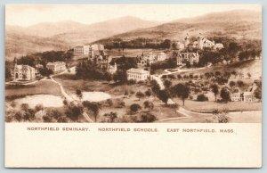 East Northfield MA~Northfield Seminary & Schools Birdseye View~c1910 Sharp Sepia