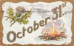 Halloween Postcards Old Vintage Antique Post Card October 31st. PU 1909