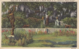MYRTLE BEACH, South Carolina, PU-1943; Diana Pool In Brookgreen Gardens, Ame...