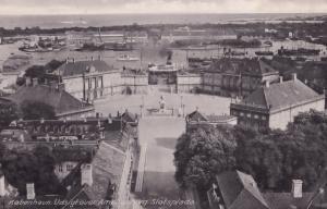 Copenhagen Denmark Slotsplads Udsigtover Amalienborg Old Postcard