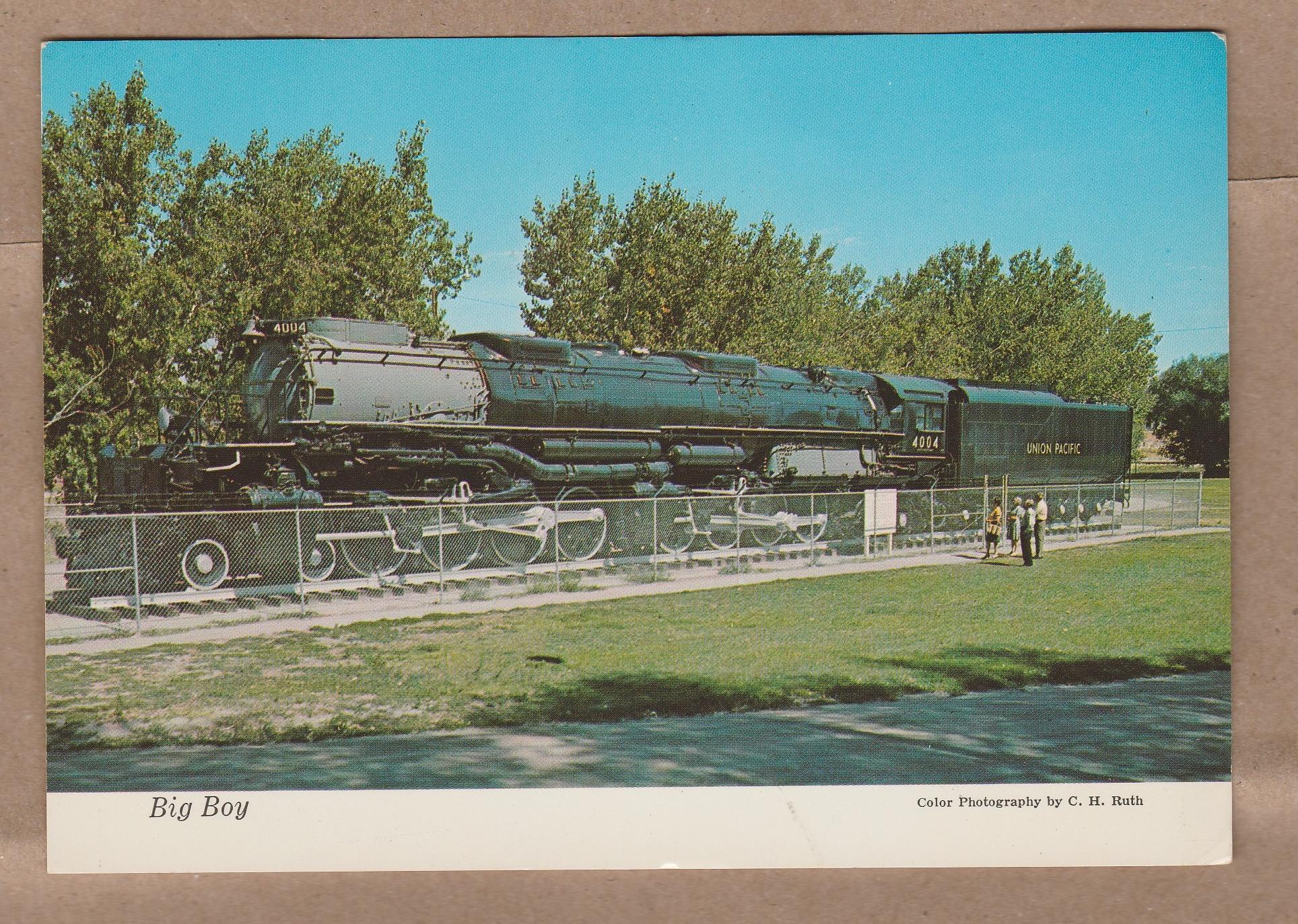Big Boy Locomotive Train Postcard Union Pacific Railroad