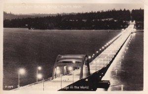 RP; SEATTLE, Washington, 1930-1940s; The Only Concrete Pontoon Bridge In The ...