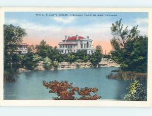Unused Linen HISTORIC HOME Dallas Texas TX d0758