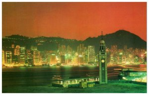 Night Scene Hong Kong Postcard PC1061