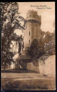 Warwick Castle - Caesar's Tower England c1910 unused