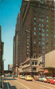 Autos Hotel Sherman Chicago Illinois Roadside Cameo Colorpicture Postcard 4471