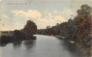 Zanesville Ohio~Brush Creek Scene~Muskingum County~c1910 Postcard