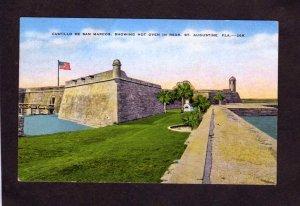 FL Castillo de San Marcos St Augustine Florida Linen Postcard