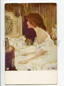 264751 ART NOUVEAU Bride by Paul RIETH Vintage JUGEND postcard