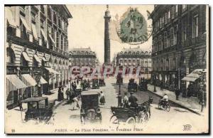 Postcard The Old Paris Place Vendome